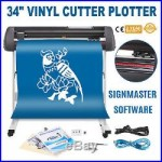 34 Vinyl Cutter Sign Plotter Cutting withSignmaster Cut Basic Software 3 Blades