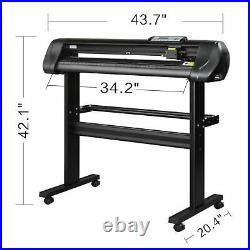 34 Vinyl Cutting Plotter with Stand and Vinyl Master Cut Software Cutter Machine