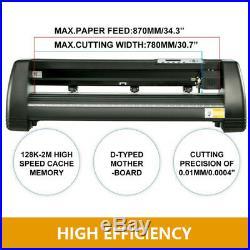 34in Cutter Vinyl Cutter Plotter Kit Software Design with Sign Cutting Machine