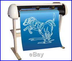 49 Large Car Sticker Vinyl Cutters Plotter RS-232 Automatic Output + Software