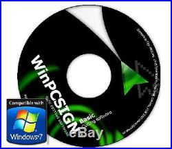 500 drivers for any vinyl cutters Brand new Basic WinPCSIGN 2012 Software