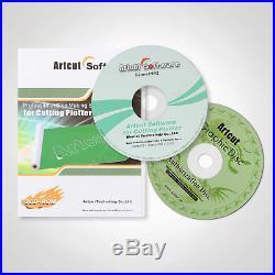 53 1350MM Vinyl Cutting PLotter Software 3 Blades Artcut Sigh Maker Cutter