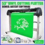53 VINYL CUTTER/SIGN CUTTING PLOTTER WithCONTOUR CUT PLOTTER ARTCUT SOFTWARE USA