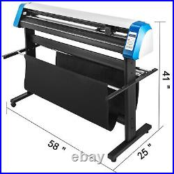 53 Vinyl Cutter Plotter Sign Cutting Machine withSoftware+3 Blades LCD Screen