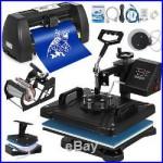 5in1 Heat Press 15x12 14 Vinyl Cutter Plotter Handicraft Software Craft Cut