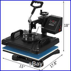 5in1 Heat Press 15x12 14 Vinyl Cutter Plotter Printer Software Sublimation
