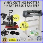 5in1 Heat Press Transfer Kit 28 Vinyl Cutting Plotter Artcut Cutter Software