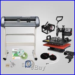 5in1 Heat Press Transfer Kit 28 Vinyl Cutting Plotter Cutter DIY Software