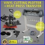 5in1 Heat Press Transfer Kit 34 Vinyl Cutting Plotter Artcut Software Cutter