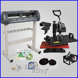 5in1 Heat Press Transfer Kit 34 Vinyl Cutting Plotter Software Cutter Machine