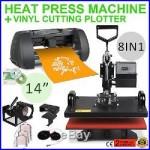 8in1 Heat Press Transfer Kit 14 Vinyl Cutting Plotter Cutter Software Artcut