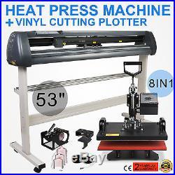 8in1 Heat Press Transfer Kit 53 Vinyl Cutting Plotter Cutter Software Sticker