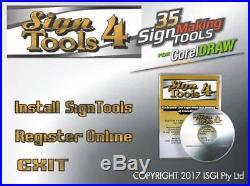 BEST software 4 Roland Vinyl Cutter, SignTools 4 CorelDraw -CorelDRAW 10 to 2017