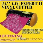BRAND NEW 24 GCC EXPERT II Vinyl Cutter & WINPCSIGN PRO SOFTWARE +EXTRA
