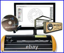 Brand GCC II Vinyl cutter Pro Unlimited software 2018 ready 2 use CONTOUR CUT