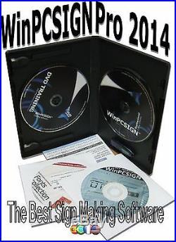 Bundle 24 VINYL CUTTER sign making business+WinPCSIGN PRO 2014 software vinyl