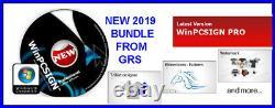 CREATION PLOTTER SOFTWARE, WinPCSIGN PRO with RHINESTONE + GRS 2019 BUNDLE