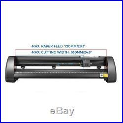 Cutter Vinyl Cutter Plotter Sign Cutting Machine Software Supplies 72cm Black