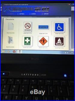 DELL LATITUDE LAPTOP & ViINYL CUTTER SK-375T & VINYL MASTER V4.0 software EUC