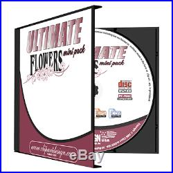 FLOWERS CLIPART-VINYL CUTTER PLOTTER IMAGES-EPS VECTOR CLIP ART GRAPHICS CD
