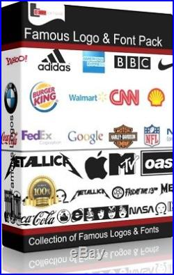 Famous Logos and Fonts Collection DVD Image Signs Design Vinyl Cutter T Shirt