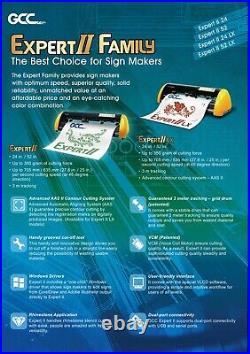 GCC Expert 24 HTV & Vinyl Cutter Plotter + Stand FREE Software + FREE Shipping