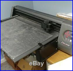 Ioline 300 Cutter flatbed applique vinyl plotter / software and rolls of twill