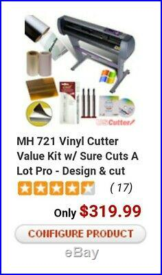 MH 721 28 Vinyl Cutter Value Kit with Sure Cuts A Lot Pro Design Cut Software