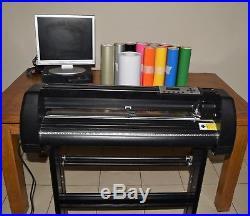 MH721 28 Vinyl Cutter Plotter + Stand + PC + Software + Vinyl Rolls = Bargain