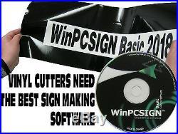 NEW 2018 Pro vectorisation WinPCSIGN BASIC Software 600 Vinyl cutters drivers