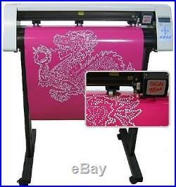 NEW 24 Rhinestone + Signs + Home decor Vinyl Cutter + 2014 PRO software
