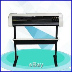 NEW LCD 28 inch Vinyl Cutter Plotter Sign Cutting Machine Double Sheet Software