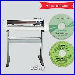 New! 24'' Cutting Plotter Vinyl Sticker Cutter Best Value Sign /Artcut Software