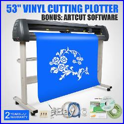 New 53 Cutter Vinyl Cutting Plotter With Stand Machine Artcut Software 3 Blades