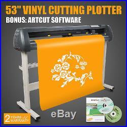 New 53 Vinyl Cutter / Sign Cutting Plotter Pro With Artcut Software Cut