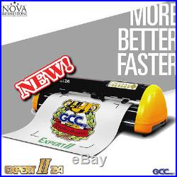 New GCC Expert 24 Vinyl Cutter Plotter with FREE Software + FREE shipping
