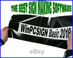 Pc-sign Basic 2018 Cutting Software For Vinyl Cutter Plotter Any 500 Drivers