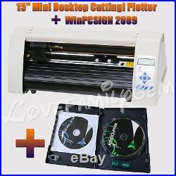 REDSAIL Desktop Plotter 15 Vinyl Cutter + WinPCSIGN 2009 Sign Making Software