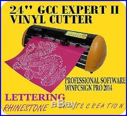 Reliable 24 GCC EXPERT II Vinyl Cutter & WINPCSIGN PRO SOFTWARE +EXTRA