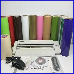 Roland Stika SV-15 Desktop Vinyl Cutter 13 Rolls Software Cables Manual Transfer