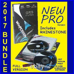 SIGN PLOTTER UPGRADE! #1 WinPCSIGN PRO #1 UNLIMITED SOFTWARE with GRS 2017 BUNDLE