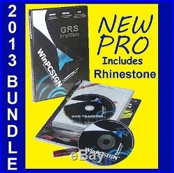SIGN PLOTTER VINYL CUTTER SOFTWARE. NEW WinPCSIGN PRO with RHINESTONE + GRS BUNDLE