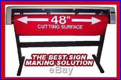 SM 48 sign business Vinyl Cutter & WinPCSIGN BASIC 2012 USB SOFTWARE
