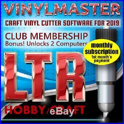 Sign Making Software VinylMaster Ltr Subscription Unlocks 2 PCs for Vinyl Cutter