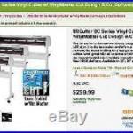 USCutter SC Series Vinyl Cutter with VinylMaster Cut Design & Cut Software