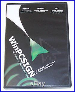 Used 24 Vinyl Cutter Plotter+software WinPCSIGN 2012 Basic+USB conn NR