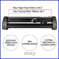 VEVOR 34 Vinyl Cutter Plotter Sign Cutting Machine Software 3 Blades LCD Screen