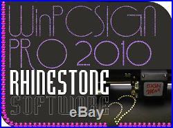 VINYL CUTTER Sign Making SOFTWARE WinPC 2010 Design Stencils Templates
