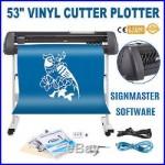 VINYL CUTTER WithSIGNMASTER SOFTWARE PRINTER STICKER 53INCH STREET PRICE NEWEST