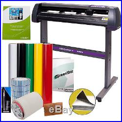 Vinyl Cutter Decal Making Kit with Professional Cut Software Sign Cutting Machine